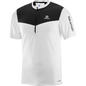 Salomon M's Fast Wing Half Zip SS Tee white/black